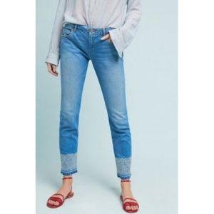 Anthropologie REIKO Cropped Skinny Jeans 25